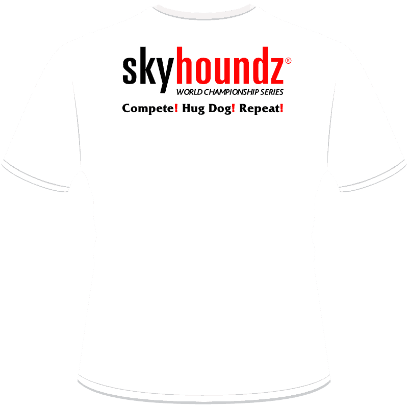 Hyperflite/Skyhoundz Compete! Hug Dog! Compete Shirt (Back View)