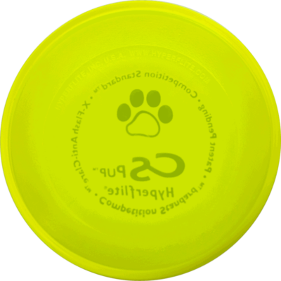 Yellow Competition Standard Pup Disc (Bottom View)