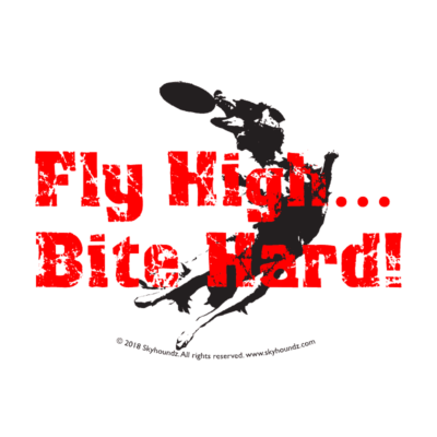 Fly High Bite Hard! (Oval Bumper Sticker)