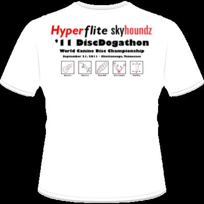 2011 DiscDogathon World Championship Shirt (Back View)