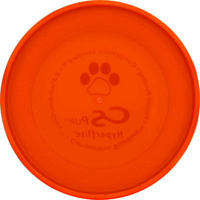 Orange Competition Standard Pup Disc (Bottom View)