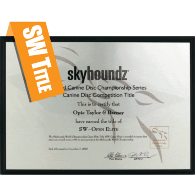 Skyhoundz World Championship Title Plaque