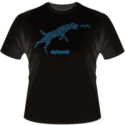 Skyhoundz Text Shirt (Front View)