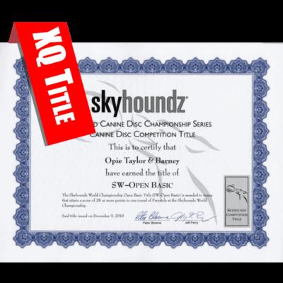 Xtreme Distance Qualifier Title Certificate