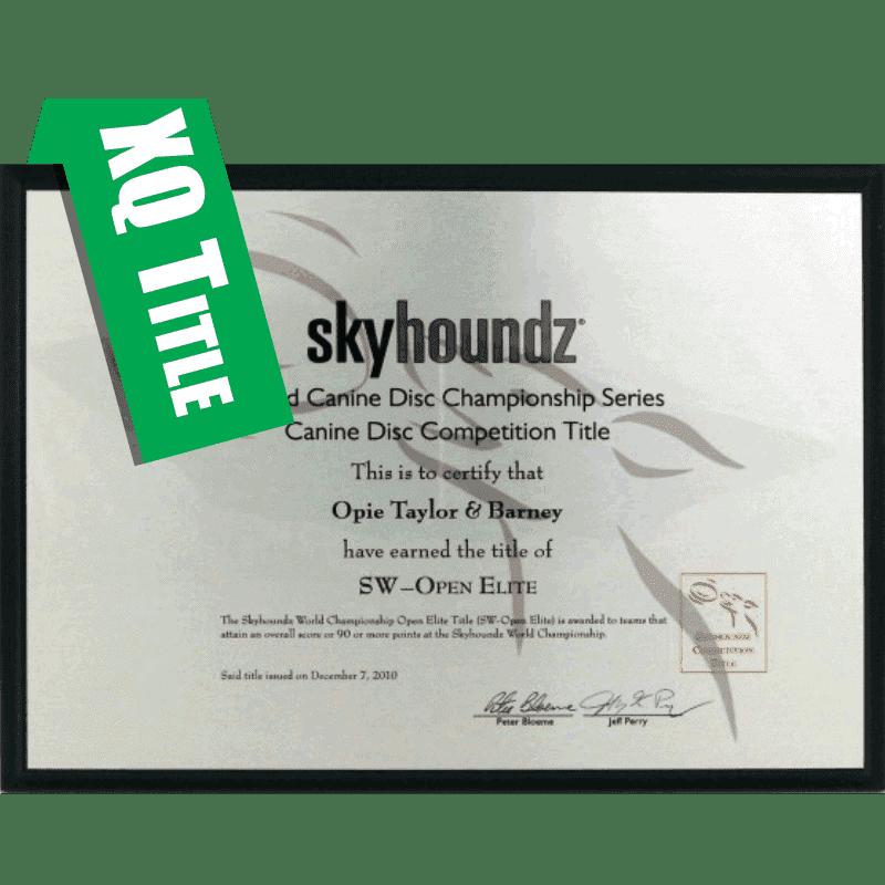 Xtreme Distance Qualifier Title Plaque