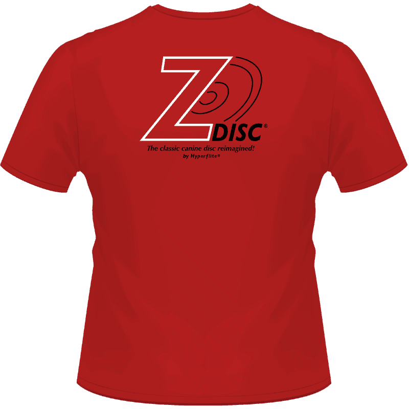 Red Z-Disc Shirt (Back View)