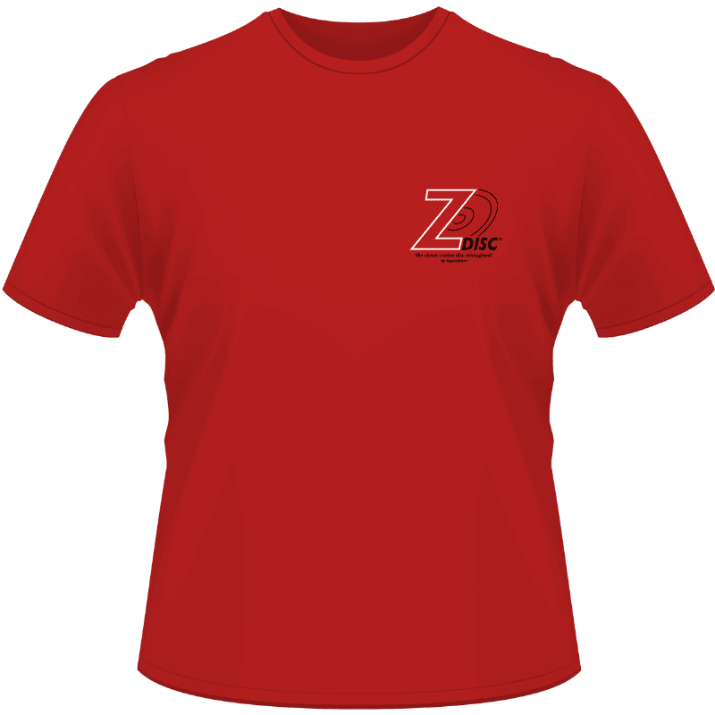 Red Z-Disc Shirt (Front View)