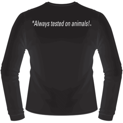 Hyperflite Always Tested on Animals Shirt (Back View)