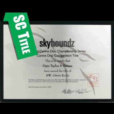 Skyhoundz Classic Title Plaque