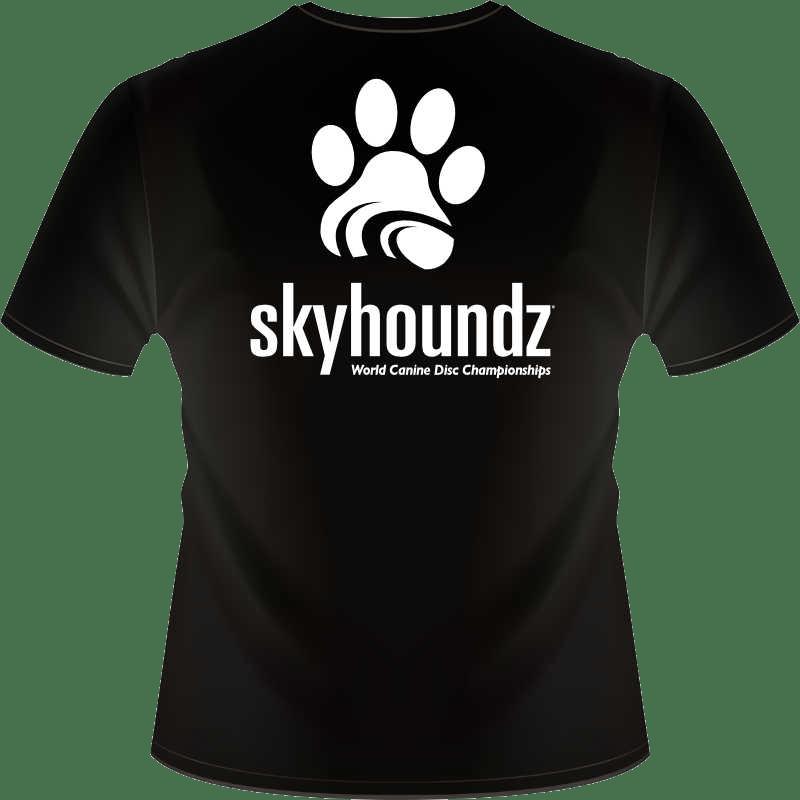 Black Skyhoundz Shirt (Back View)