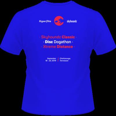 2019 Skyhoundz World Canine Disc Championship Shirt (Back View)