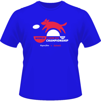 2019 Skyhoundz World Canine Disc Championship Shirt (Front View)