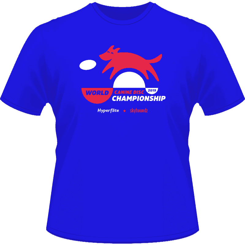 2019 Skyhoundz World Canine Disc Championship Shirt (Front View)