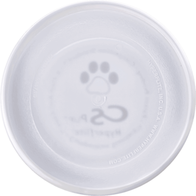 White Competition Standard Pup Disc (Bottom View)