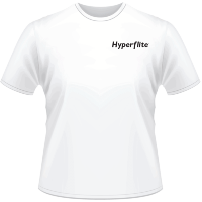 White Hyperflite Shirt With Black Logo (Front View)