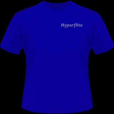 Hyperflite Flying Disc Shirt-Silver Glitter Logo (Front View)