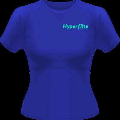 Women's Hyperflite Flying Disc Shirt-Neon Green Logo (Front View)