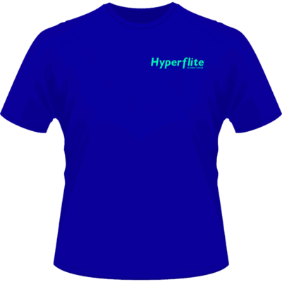 Hyperflite Flying Disc Shirt-Neon Green Logo (Front View)