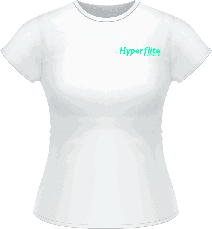 White Hyperflite Women's Shirt With Neon Green Logo (Front View)