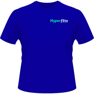 Hyperflite Flying Disc Shirt-Neon Green/White Logo (Front View)