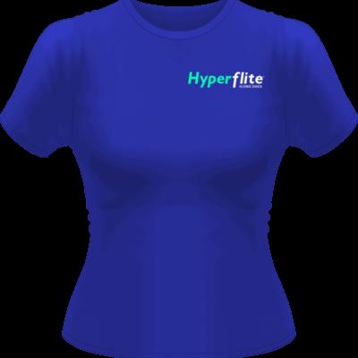 Women's Hyperflite Flying Disc Shirt-Neon Green/White Logo (Front View)