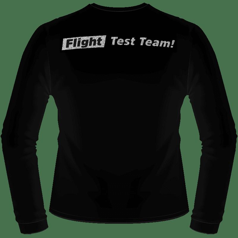Black Hyperflite Glitter Logo Long Sleeve Shirt (Back View)