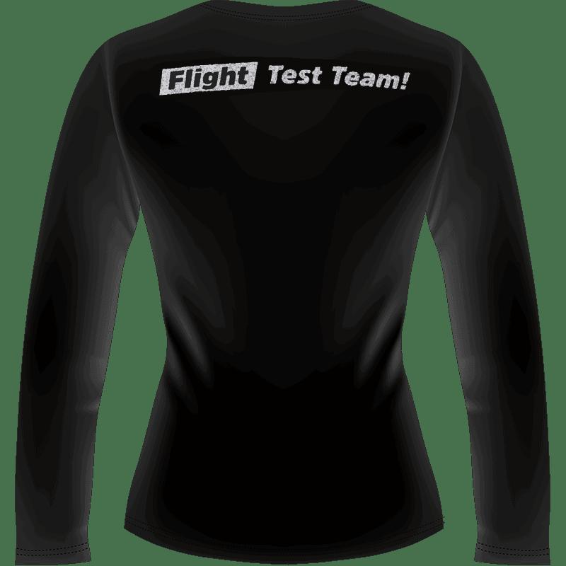 Black Hyperflite Glitter Logo Long Women's Sleeve Shirt (Back View)