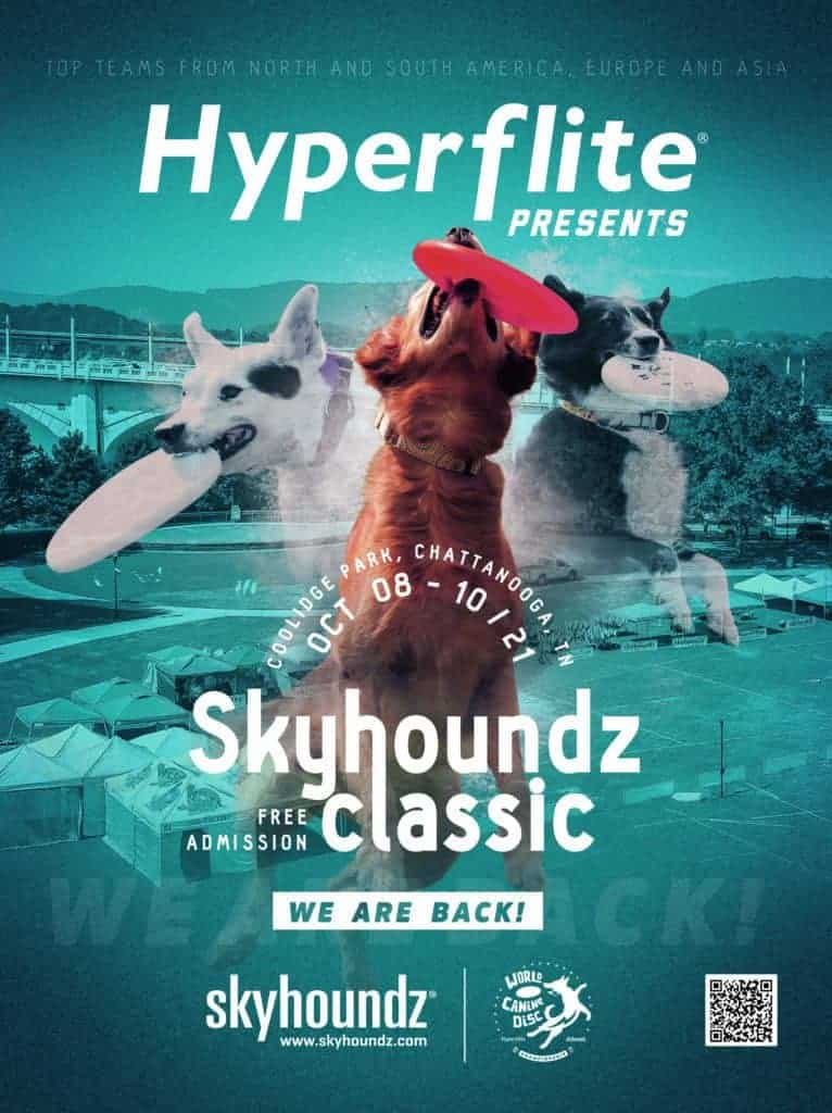 20-21 Skyhoundz Classic World Canine Disc Championship Poster